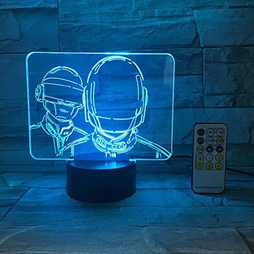 Zeichentrickfilm-Figur-Nachtlicht-Notenschalter-Fernsteuerungsacrylfarbsteigungs-Atmosphären-Beleuchtungs-Tropfenfänger