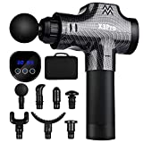 Massage Gun Deep Tissue Percussion Muscle Massager for Pain Relief,Handheld Electric Body Massager Sports Drill Portable Super Quiet Brushless Motor, 30 Speeds Percussion Massage X3Pro(Carbon Fiber)