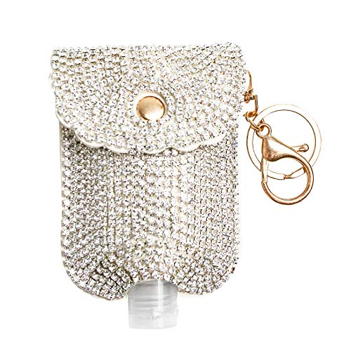 Luxury Rhinestone Refillable Cosmetic Bottles Travel Bottle Hand Sanitizer Holder with Empty Leak Proof Refillable Travel Containers for Shampoo, Liquid Body Soap, Toner, Lotion