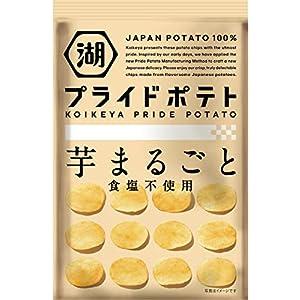 """湖池屋 KOIKEYA Pride POTATO芋まるごと 食塩不使用 60g ×12袋"""""""