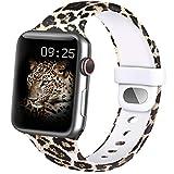mugust silicone cinturino compatibile per apple watch 38mm 40mm 42mm 44mm, cinturino con stampati senza dissolvenza, cinturini di ricambio per iwatch series 6 5 4 3 2 1 se