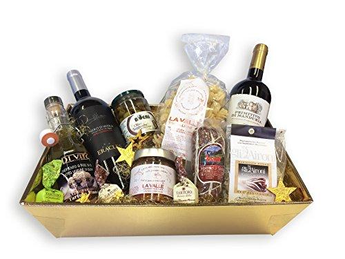 Geschenkset Feinkost Geschenkkorb SAPORI D'ITALIA DELUXE mit ausgesuchten italienischen Delikatessen Spezialitäten