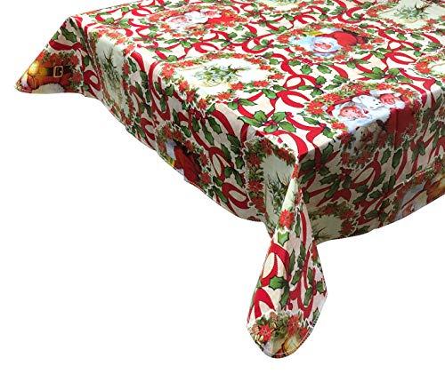 Mediawave Store WH Nataluna Tovaglia Antimacchia 479025 impermeabile natalizia in PVC 120x180cm