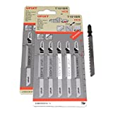 Jigsaw Blades T101BR for Down Cutting Laminates and Veneers High Carbon Steel HCS 10 Pack Fits AEG, Black & Decker, Bosch, Dewalt, Elu, Festool, Hitachi, Makita, Metabo and Skil by <span class='highlight'><span class='highlight'>Yourspares</span></span>