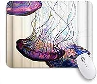 EILANNAマウスパッド クラゲの絵の装飾 ゲーミング オフィス最適 高級感 おしゃれ 防水 耐久性が良い 滑り止めゴム底 ゲーミングなど適用 用ノートブックコンピュータマウスマット