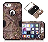 iPhone 6s Case, CexCob High Impact Camouflage Tree Skin 3 in 1 Hybrid Shockproof Full Body Protective Armor Combo Defender Cover Case Compatible for Apple iPhone 6s / 6, Black