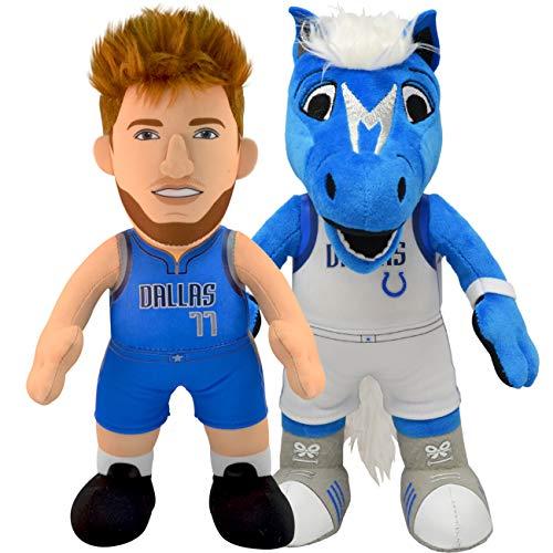 Dallas Mavericks Bundle: Mascot Champs and Luka Doncic 10' Plush Figures