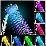 Cabezal de ducha LED multicolor de 7 colores arco iris, brillo de agua LED cabezal de ducha (A-002)
