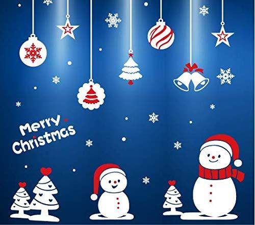 Kerst Venster Klemmen Stickers, Raam Sticker Sneeuwvlok Boom Kerstman Klokken Rendier, Sneeuwman Snoep Riet voor Raam Decor Xmas Feestelijke Decoraties Clings, Kerstmis Feestartikelen