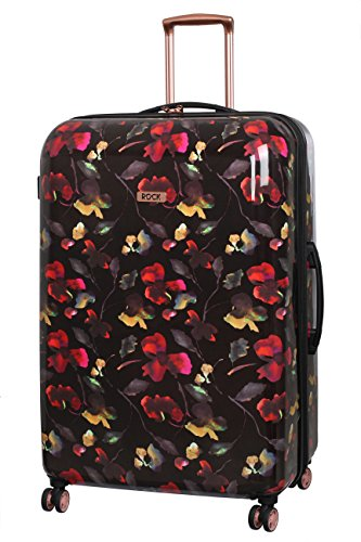 Rock London 82cm Montana Expandable 8 Wheel Hard Shell Spinner Suitcase Dark Floral