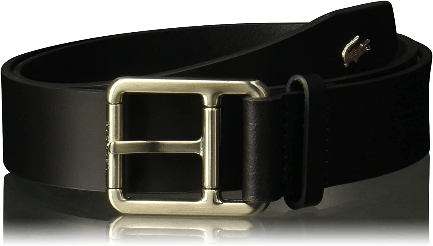 Free shipping on posting reviews Lacoste Men's Buckle Belt Croc Las Vegas Mall Detailing W