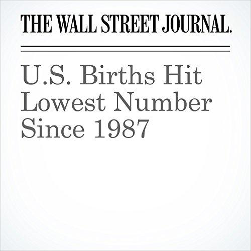 U.S. Births Hit Lowest Number Since 1987 copertina