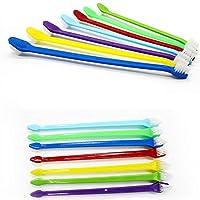 ペット猫犬の歯指ブラシ歯科ケアペット歯ブラシ口クリーニング歯ブラシプラスチック猫ブラシ-ランダムcolor_1pcs
