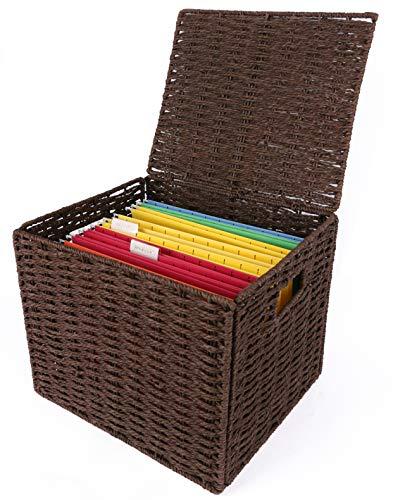 wicker file basket - 1