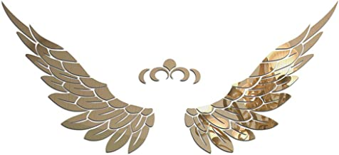 baofengxue Wings 3D Stereo Wall Stickers Acrylic self-Adhesive Children Angel Wings Adult DIY Home Decoration Stickers Bed...