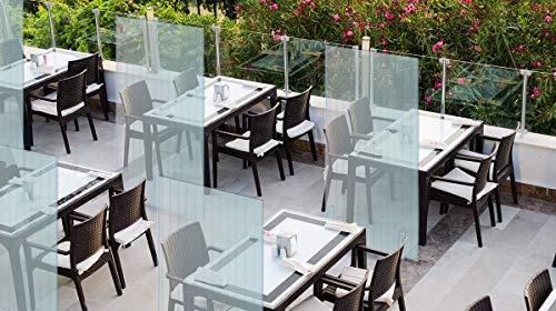 Mampara protectora mostrador - Mampara para oficinas transparente - Mampara plegable portátil (200x100cm) VERTICAL (5 unidades)