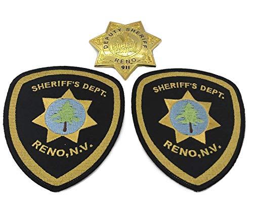 Reno 911 Deputy Sheriff Star Badge + Dept Shoulder Patch 2 Central...