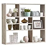 FMD furniture Wandregal, Holz, Sandeiche, ca. 90 x 78 x 16 cm