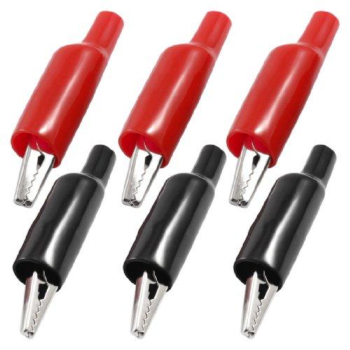 Aexit 6 Stück Kunststoffstiefel beschichtete Testklemme Metallkrokodilklemmen 2,2' 'Länge (14206cd4aaeeb309954b2f9b773ef358)