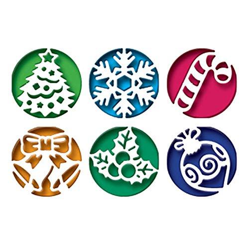 Weihnachten Grußkarte Stanzschablone Stanzbögen Stanzmaschine Stanzformen für Scrapbooking Kartenbasteln, Journaling Silber