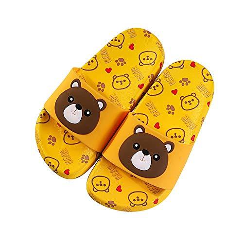 Fenshan223 Lindas Oso Zapatillas para niños al por Mayor Verano Nuevo Dibujos Animados impresión Exterior Desgaste de Las niñas Sandalias de baño baño Interior Zapatos Interior