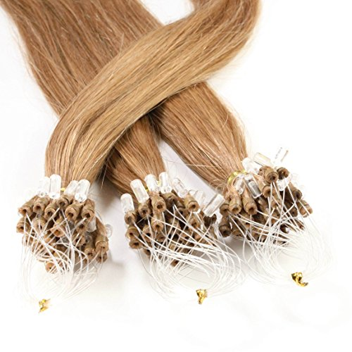 Hair2heart Microring Loop Extensions, 50 x 1 g, glad 60cm #12 Honing blond