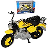 Welly Hon-da Monkey Gelb 1/18 Modell Motorrad mit individiuellem Wunschkennzeichen