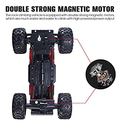 Geekper All Terrain RC Car - 1:16 Scale Radio Controlled Electric Car - Off Road Racing Cars 2.4Ghz 4WD Remote Control Monster Truck with 1 Rechargeable Battery