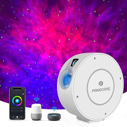 Panacare Alexa Sternenhimmel Projektor, WLAN Galaxy Sternenlicht LED Nachlicht Projektor mit App Steuerung/Timer/Alexa&Google Home Sprachsteuerung, Sternprojektor Nachlicht für Kinder Party Geschenk