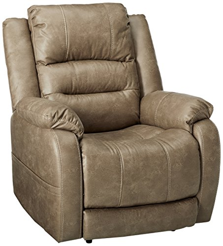 Ashley Furniture Barling Faux Leather Recliner Mushroom