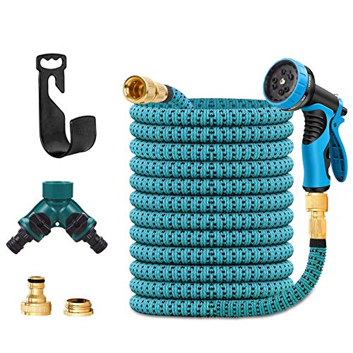 Qcore 75 FT Expandable Garden Hose, Flexible Water pipe with Three Latex...