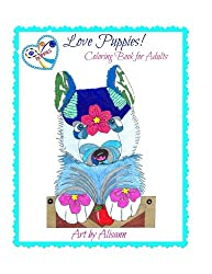 Love Puppies Coloring Book For Adults Dog Lovers Books
