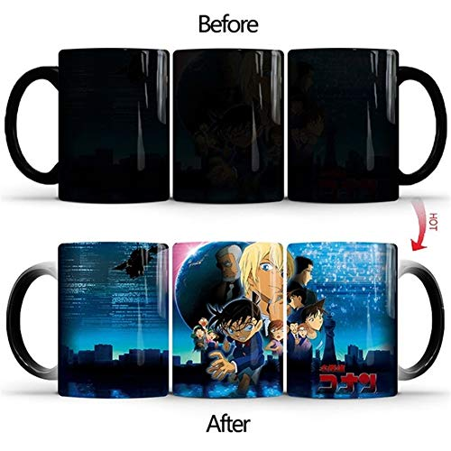 Becher Anime Detektiv Conan Keramik Magic Becher 350ml Milch-Tee Kaffeetassen Farbwechsel Tassen Beste Geburtstags-Geschenke for Freunde Kinder (Capacity : Foam Box, Color : Style C)