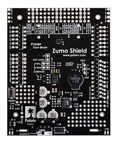 Pololu Zumo Shield für Arduino als Schnittstelle zwischen Zumo-Chassis und Arduino UNO/Leonardo mit 3-Achsen Beschleunigungssensor, Kompass, Gyroskop