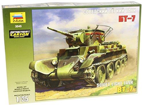 Zvezda 500783545 - 1:35 WWII Sov. Lt. Panzer BT-7 mit Bausätzen, 3 Figuren
