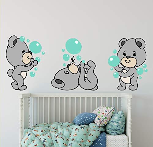 Adhesivo decorativo para pared, diseño de oso