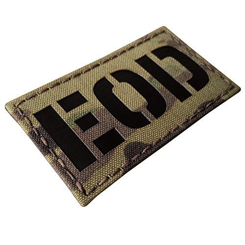 Multicam Infrared EOD Explosive Ordnance Disposal Bomb Squad 3.5x2 Tactical Morale Hook&Loop Patch