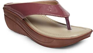 Butterflies Steps Latest Collection, Comfortable Wedges Sandalfor Women's & Girl's (Burgundy) (GHS-0025BGD)