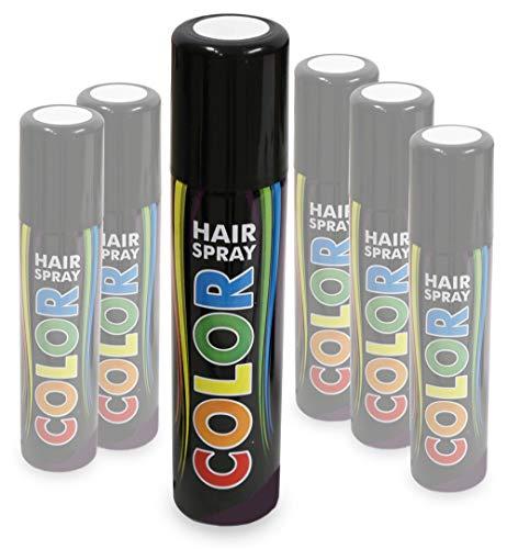 KarnevalsTeufel Hairspray Color buntes Haarspray Haarschmuck farbig (Weiß)