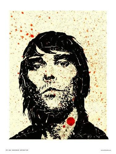 Ian Brown van Stone Roses Pop Art Print Poster van Pruik (otw052)