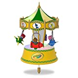 Hallmark Keepsake Christmas Ornament 2018 Year Dated, My First Crayola Crayons Airplane Teddy Bear, A Beary Colorful Ride With Music, Light and Motion