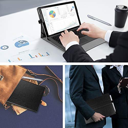 Fintie Hülle für Surface Go 2 2020 / Surface go 2018 10 Zoll Tablet - [Multi-Sichtwinkel] Hochwertige Kunstleder Schutzhülle Tasche Etui Cover Case mit Stylus-Halterung, Schwarz