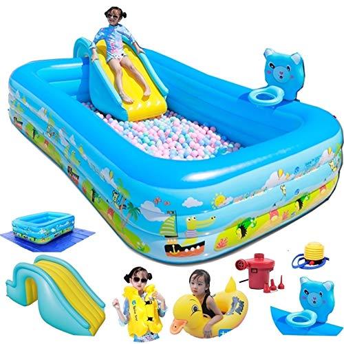 Piscina inflable sobre la piscina sobre el suelo con la diapositiva y el marco de tiro para los niños adultos de los adultos grande de los juguetes de la piscina gratuitos de la piscina / la bomba elé
