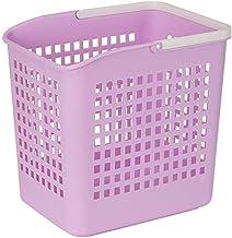 Storage Laundry Basket Baby Storage Plastic Household Bathroom Dirty Clothes Basket Storage Box (Color : Purple, Size : 30...