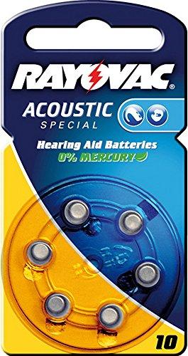 Appareils auditifs-rayovac piles varta pile bouton/zinc-air-v10