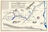 Historic Map : The Delaware and Hudson Canal and The Gravity Railroads Connecting with The Mines, 1949, Edwin D. Leroy, Vintage Wall Art : 36in x 24in