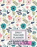 Undated Daily Teacher Flexible Lesson Planner: Daily Lesson Planning for Teachers With 2020 Calendar, Class List & Notes Perfect Size (8'x10')