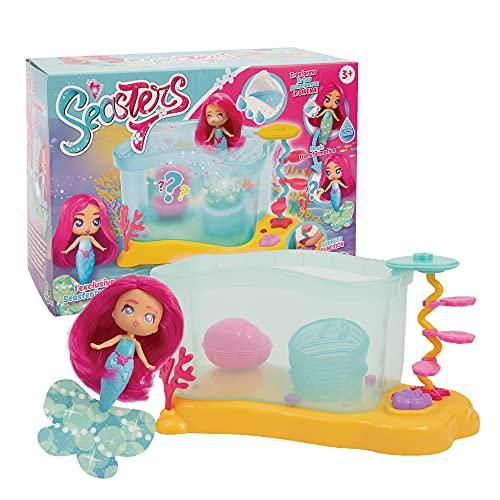 Seasters - Acuario con muñeca de Sirena Sorpresa, Princesa Que se transforma en Sirena, con Accesorios Secretos, Juguete para niños a Partir de 3 años, Eat01