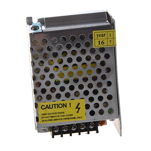 SODIAL (R) - Fuente de alimentación (transformador) interruptor, para tiras LED (85-263V CA a 12V CC, 2A, 24W)