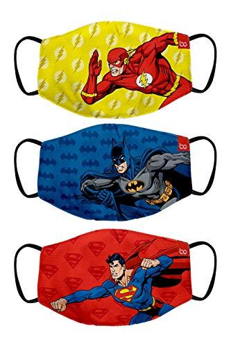 Bon Organik Superman Batman Flash (OFFICIAL MERCHANDISE) 2 Ply Printed Cotton Cloth...